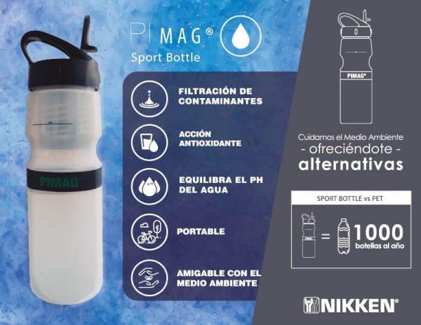 PiMag Botella Deportiva Bienestar con Nikken en Colombia